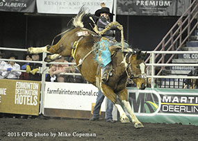 Lane Cust - 2015 Novice Saddle Bronc Riding Champion