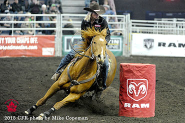 Nancy Csabay - 2015 Ladies Barrel Racing Champion, Average Winner and Top Gun Award Recipient * Wicked - 2015 Barrel Horse With the Most Heart