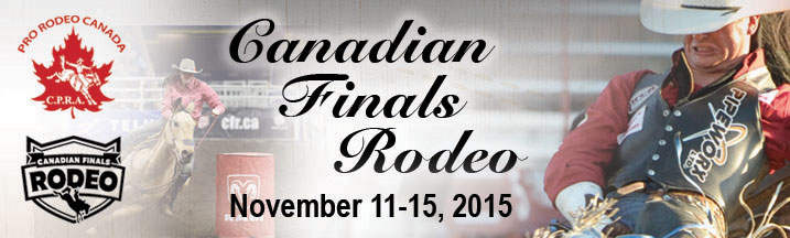 Canadian Finals Rodeo - November 11-15, 2015 Edmonton Northlands