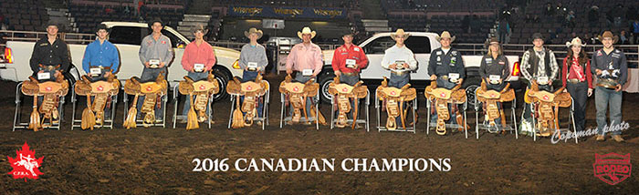 2016 Canadian Pro Rodeo Champions
