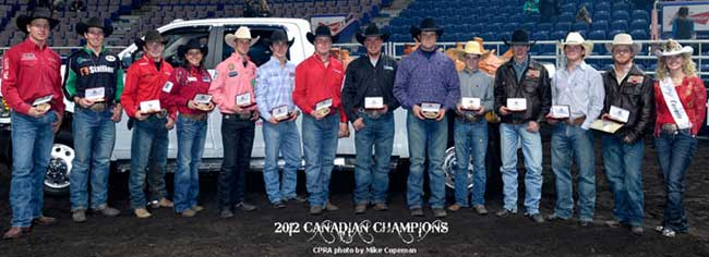 2012 Canadian Pro Rodeo Champions